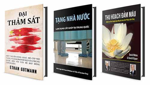 Ba cuốn sách nổi tiếng phơi bày nạn mổ cướp nội tạng các học viên Pháp Luân Công tại Trung Quốc.