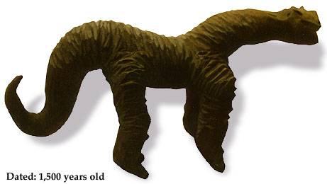 Bức tượng khủng long, có niên đại 1.500 năm trước
