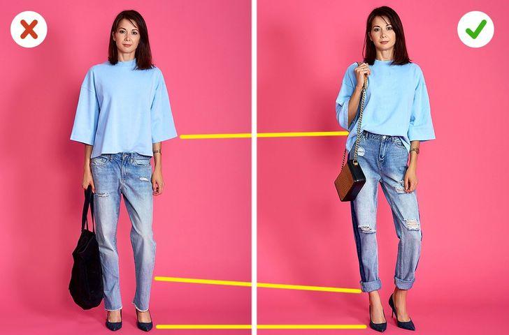 Chọn quần Jean và túi dựa theo chiều cao của bạn