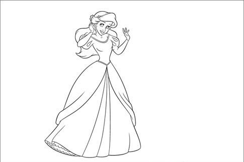 Bé hãy tô màu cho nàng tiên cá Ariel của chúng ta thật đẹp nhé!