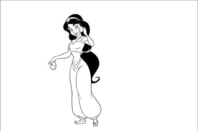 Công chúa Jasmine trong phim hoạt hình Aladin và cây đèn thần