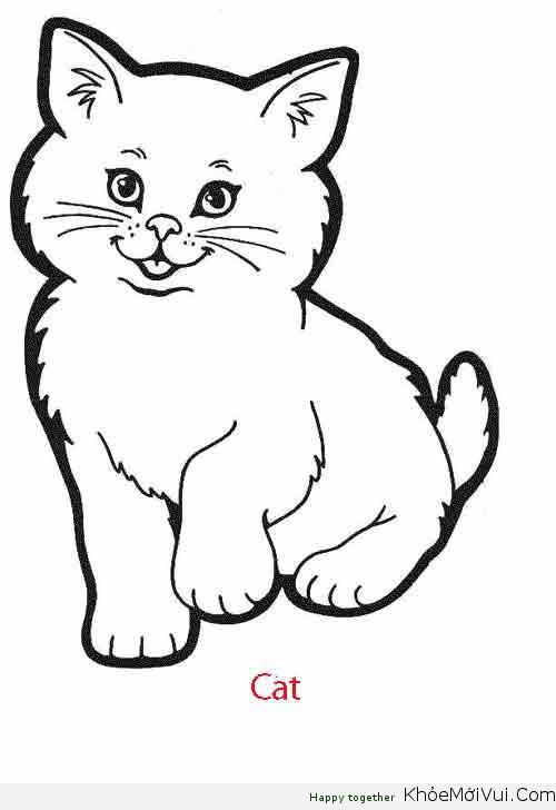 tô màu con mèo